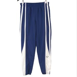 Nike Navy Blue and White Old School Track Pants